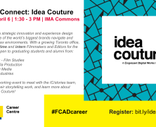 Networking / Recruiting event for Film students | Idea Couture | April 6