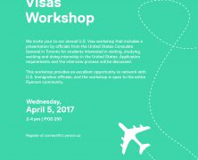 U.S. Visas Workshop hosted by @RyersonISS | Apr 5