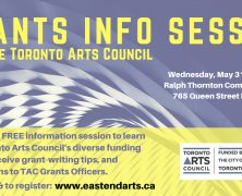 @EastEndArtsTO | Grans Info Session with @TorontoArts council | May 31
