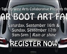 Call for Submissions: Car Boot Art Fair   @ArtTorontoWest   Sept 10