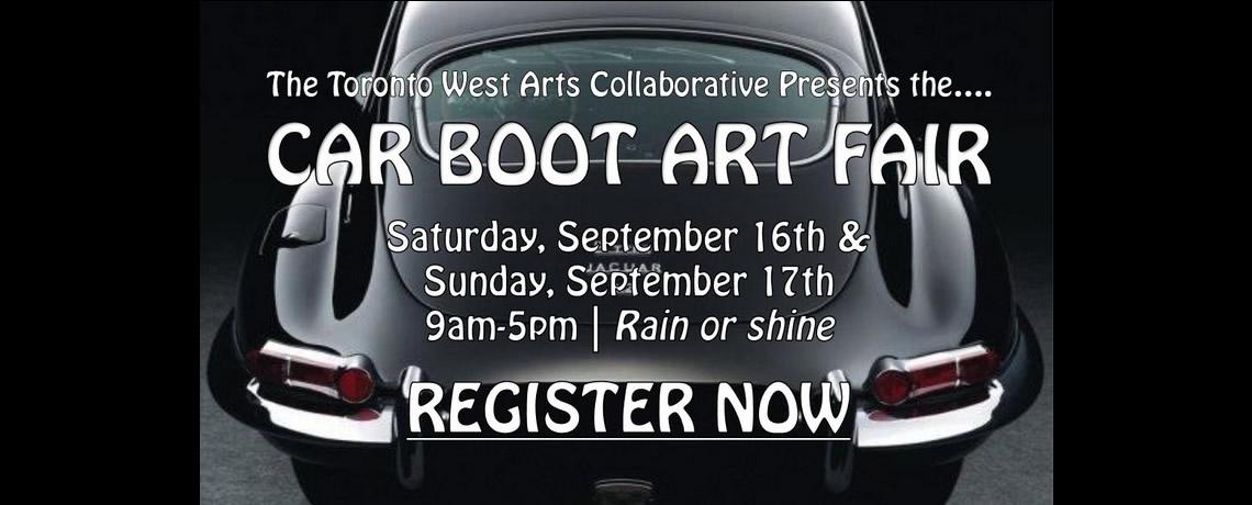 Toronto Car Boot art fair banner