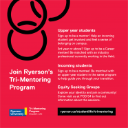 Join @RyersonU @trimentoring Program | Upper Year & Incoming Student welcome