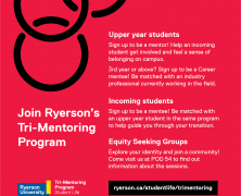 Join @RyersonU @trimentoring Program   Upper Year & Incoming Student welcome