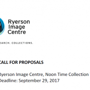 Call For Proposals | @RICgallery | Noon Time Collection Talk Series | Sep 29