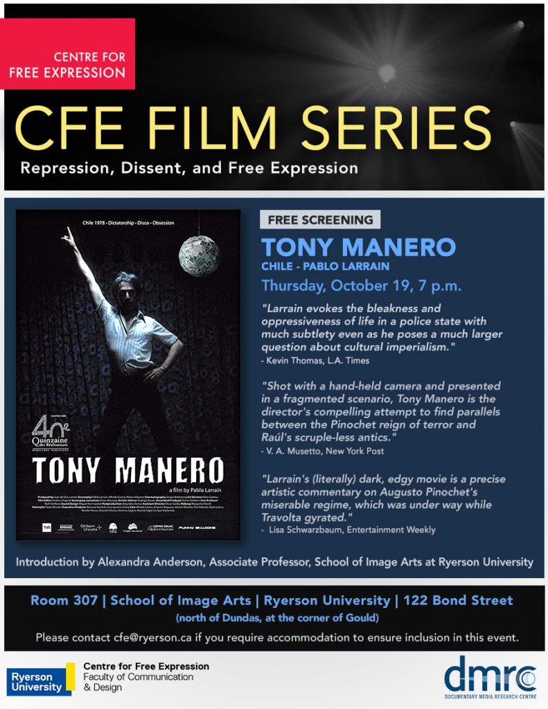 Tony Manero screening image