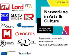 Networking in Arts & Culture presented by #FCADcareer | Jan 25