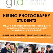 GTA Photography Classes is hiring photography students: Summer camp instructors