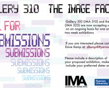 Call for Submissions: Gallery 310 & The Image Factory