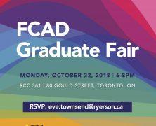 FCAD Graduate Fair | Oct 22 @ 6 PM | RCC 361