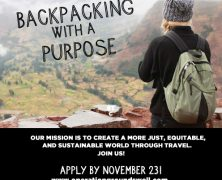 BACKPACKING WITH A PURPOSE: 2019 APPLICATIONS NOW OPEN!