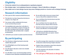 Invitation to participate in PhD research on design learning