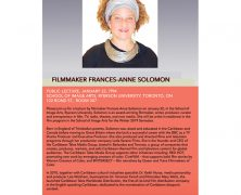 Visiting Artist Lecture: Filmmaker Frances Anne-Soloman | Jan 22 @ 7 PM